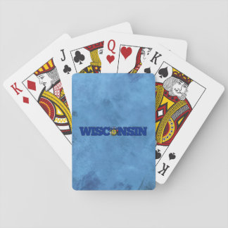 Wisconsinite name and flag on cool wall poker deck
