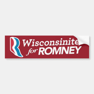 Wisconsinites For Romey Sticker CUSTOM COLOR