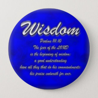 Wisdom 10 Cm Round Badge