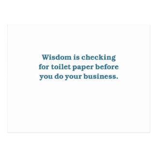 Wisdom (blue toilet bowl) postcard