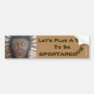 """Wisdom"" Bumper Sticker with Let's Plan A..."