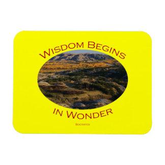 wisdom rectangular photo magnet