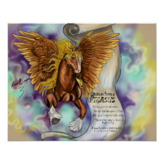 Wisdom from a Pegasus, poster print