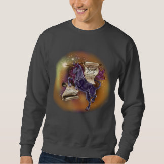 Wisdom from a Unicorn~men's basic sweatshirt