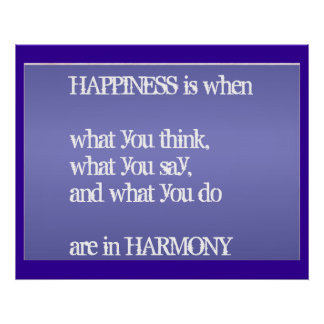 Wisdom Gandhi - Happiness Harmony Poster