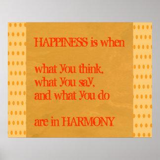 Wisdom Gandhi  -  Happiness Harmony Print