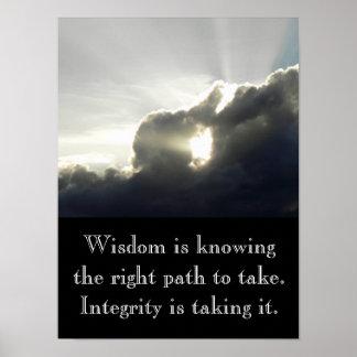 Wisdom is knowing - art print