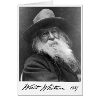 """Wisdom is of the Soul"" Walt Whitman Quote Card"