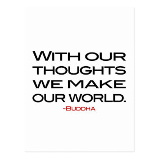 Wisdom of Buddha:  Make Our World Postcard