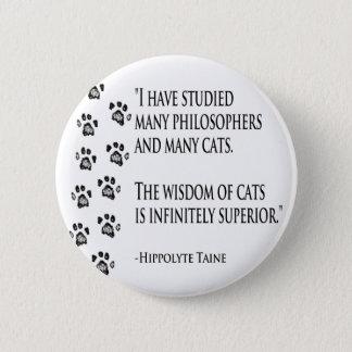 Wisdom of Cats 6 Cm Round Badge