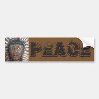 """Wisdom"" PEACE Bumper Sticker"