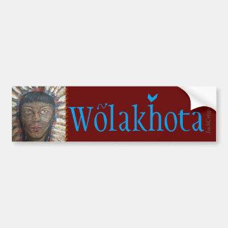 """Wisdom"" PEACE~Wolakhota Bumper Sticker"