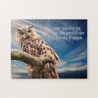 Wisdom Quote Owl puzzle