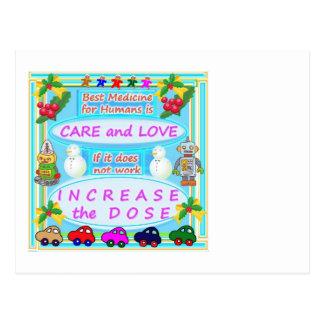 Wisdom Text : Human Care n Love Postcard