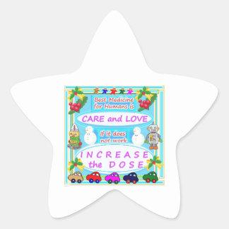 Wisdom Text : Human Care n Love Star Sticker