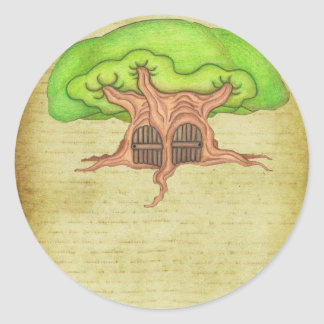 Wisdom Tree Round Sticker