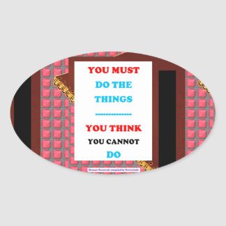 WISDOM Word Text Lifestyle Determination GIFTS fun Oval Sticker
