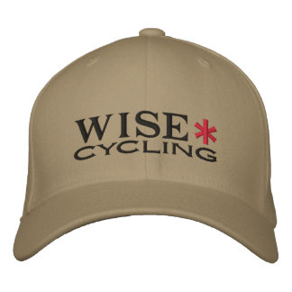 WISE* Black/Red Embroidered Hat