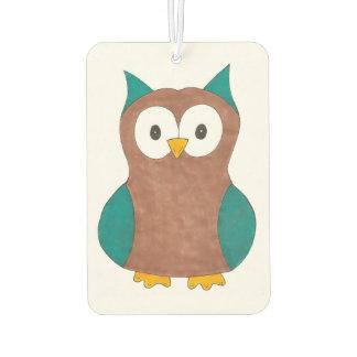 Wise Brown Owl Bird Hoot Animal Gift Car Air Freshener