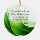 Wise Buddha Quotes Abstract Christmas Ornament