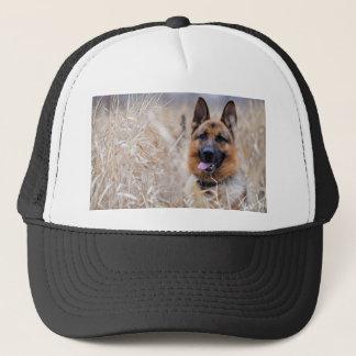 Wise German Shepherd Puppy Trucker Hat