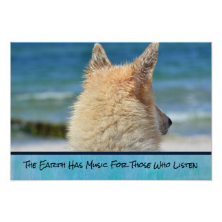 Wise Inspirational Quote With German Shepherd Pup Poster