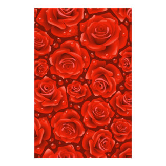 Wise Love Passion Red Roses Personalized Stationery