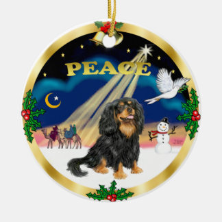Wise Men - Black and tan Cavalier King Charles Ceramic Ornament