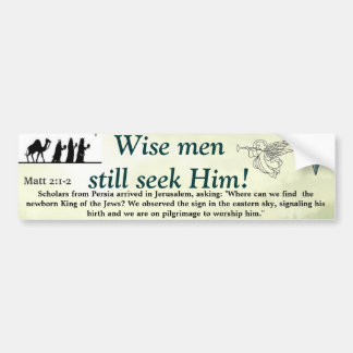 Wise Men Bumper Sticker