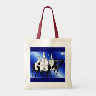 Wise men follow the star red tote bag