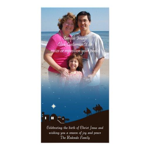 Wise Men Seek Him Photo Christmas Card Photo Card Template