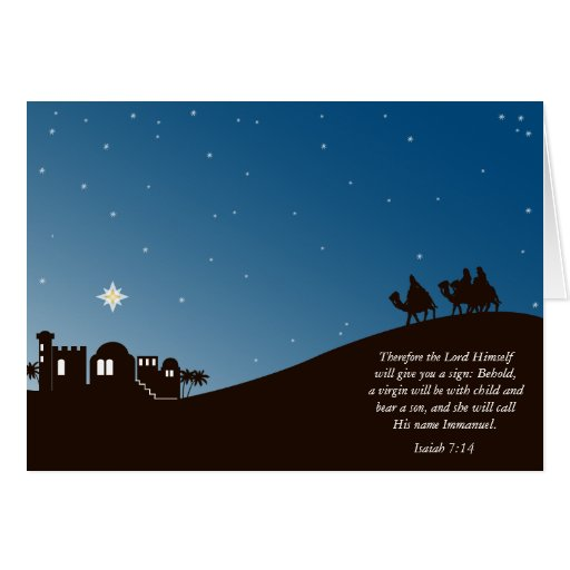 Wise Men Still Seek Him Christian Christmas Card