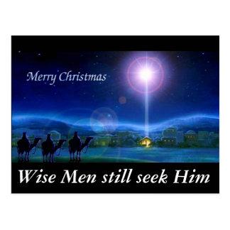 Wise Men still seek Him Christmas Greeting Card Postcard