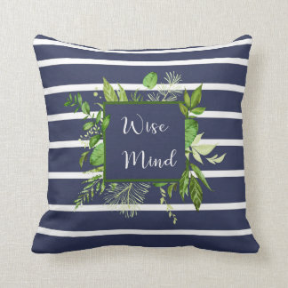 Wise Mind Striped Pillow