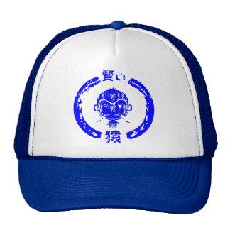 Wise Monkey Blue Cap