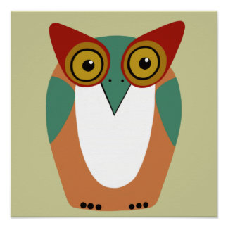 Wise Old Owl Art Poster