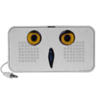 Wise Old Owl Eyes Doodle Travelling Speakers