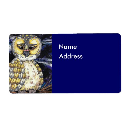 Wise Old Owl Label Shipping Label