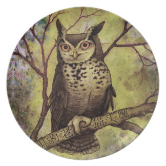 Wise Old Owl Party Plates
