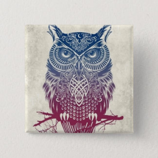 Wise One 15 Cm Square Badge
