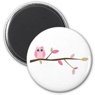 Wise Owl 6 Cm Round Magnet