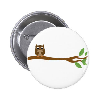 Wise Owl Pinback Button