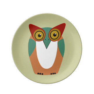 Wise Owl Decorative Plate Porcelain Plate