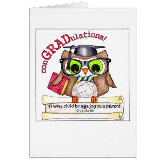 Wise Owl Graduation Card