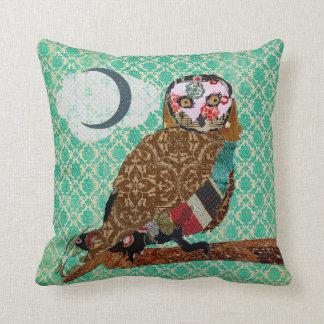 Wise Owl Jade Damask Mojo Pillow Throw Cushions