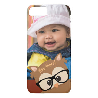 "Wise Owl ""Photo Bomb"" iPhone 8/7 Case"