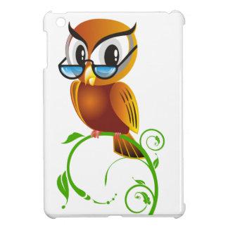 Wise owl w glasses iPad mini case