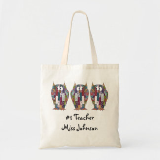 Wise Owls Teacher Tote Budget Tote Bag