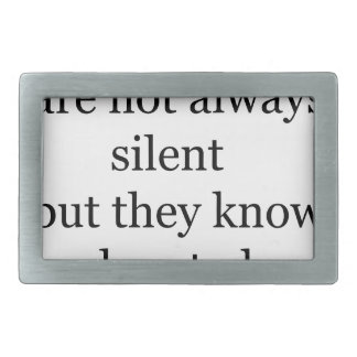 wise people are not always silent but they know wh belt buckle