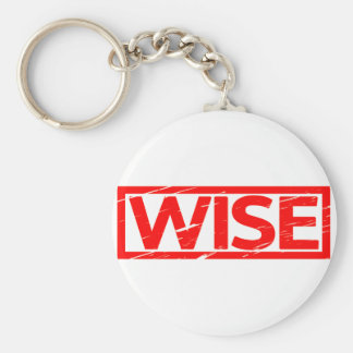 Wise Stamp Key Ring